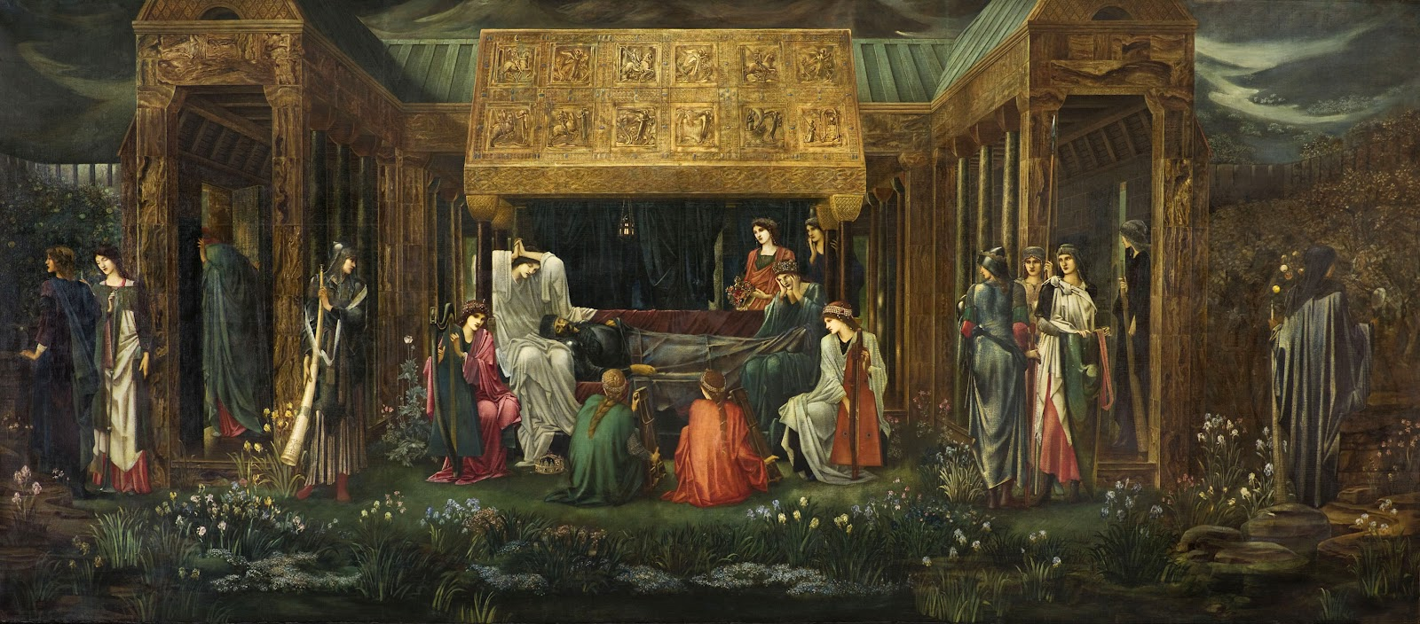 Edward Burne-Jones, The Sleep of King Arthur in Avalon (1898)