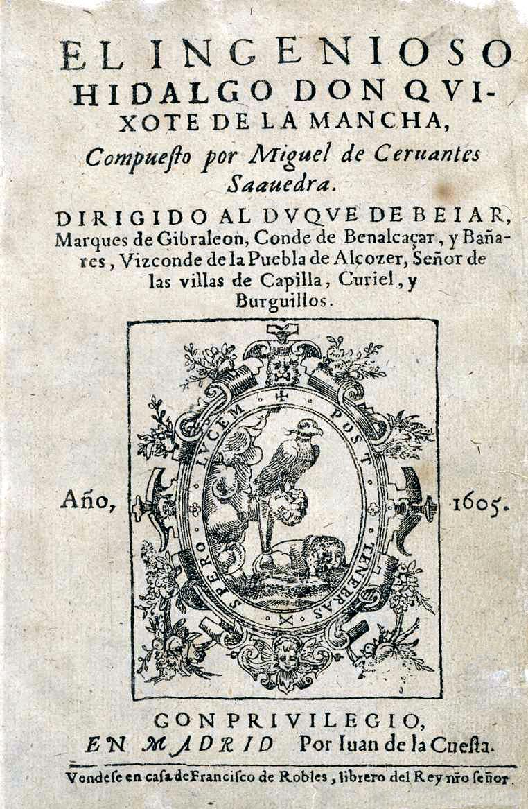 Copia impressa da Juan de la Questa il 31 dicembre 1604
