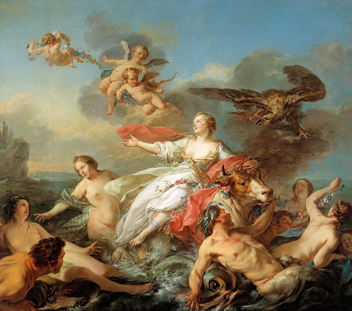 Jean-Baptiste Marie Pierre - Il ratto d'europa (1750)