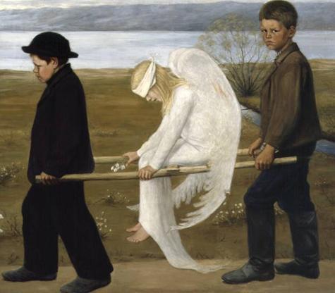 Angelo ferito, Hugo Simberg (1903)